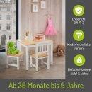 Kindersitzgruppe Amy Natur/Weiß