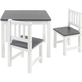 Kindersitzgruppe Amy Anthrazit/Weiß