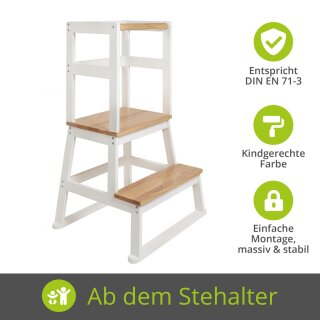 Swubi Learning Tower Natur-Weiß