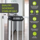 Türschutzgitter Merle 123-131 cm | Extra hoch 107 cm | 90° Feststell-Funktion